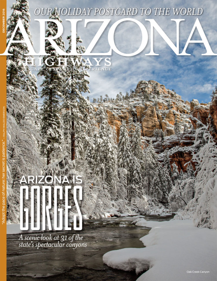 The December 2016 cover of Arizona Highways