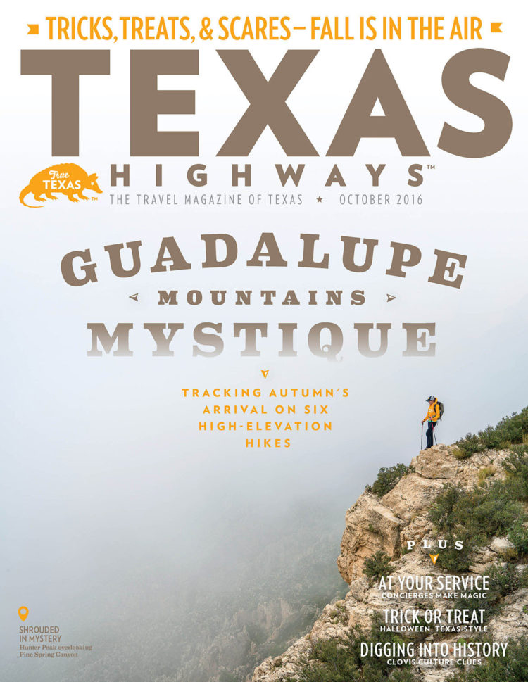 Texas Highways, October 2016 Cover